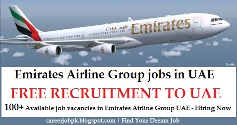 Emirates Airline Group jobs in UAE 2016
