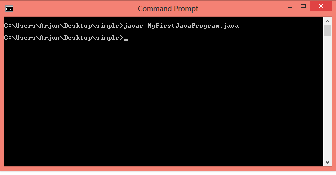 java command prompt