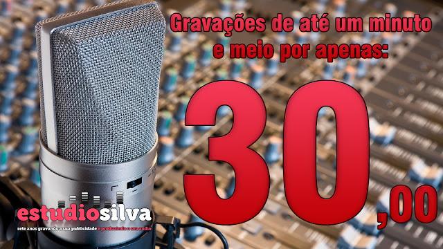 Gravação de propaganda para carro de som - Estudio Silva