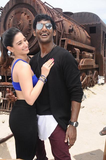 Tamanna in in kaththi sandai movie song stills