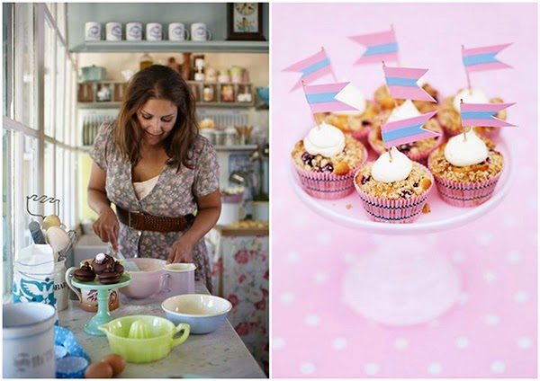 Baking with pastel kitchen accessories at Leila's General Store