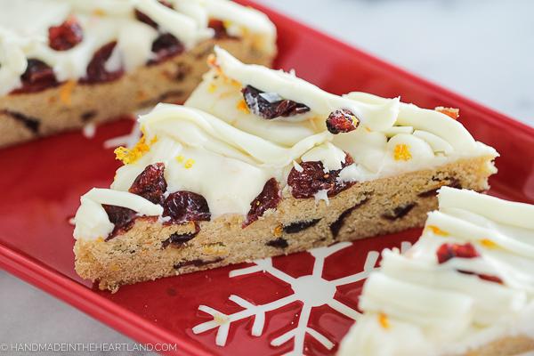 Recipe for orange cranberry bliss bars