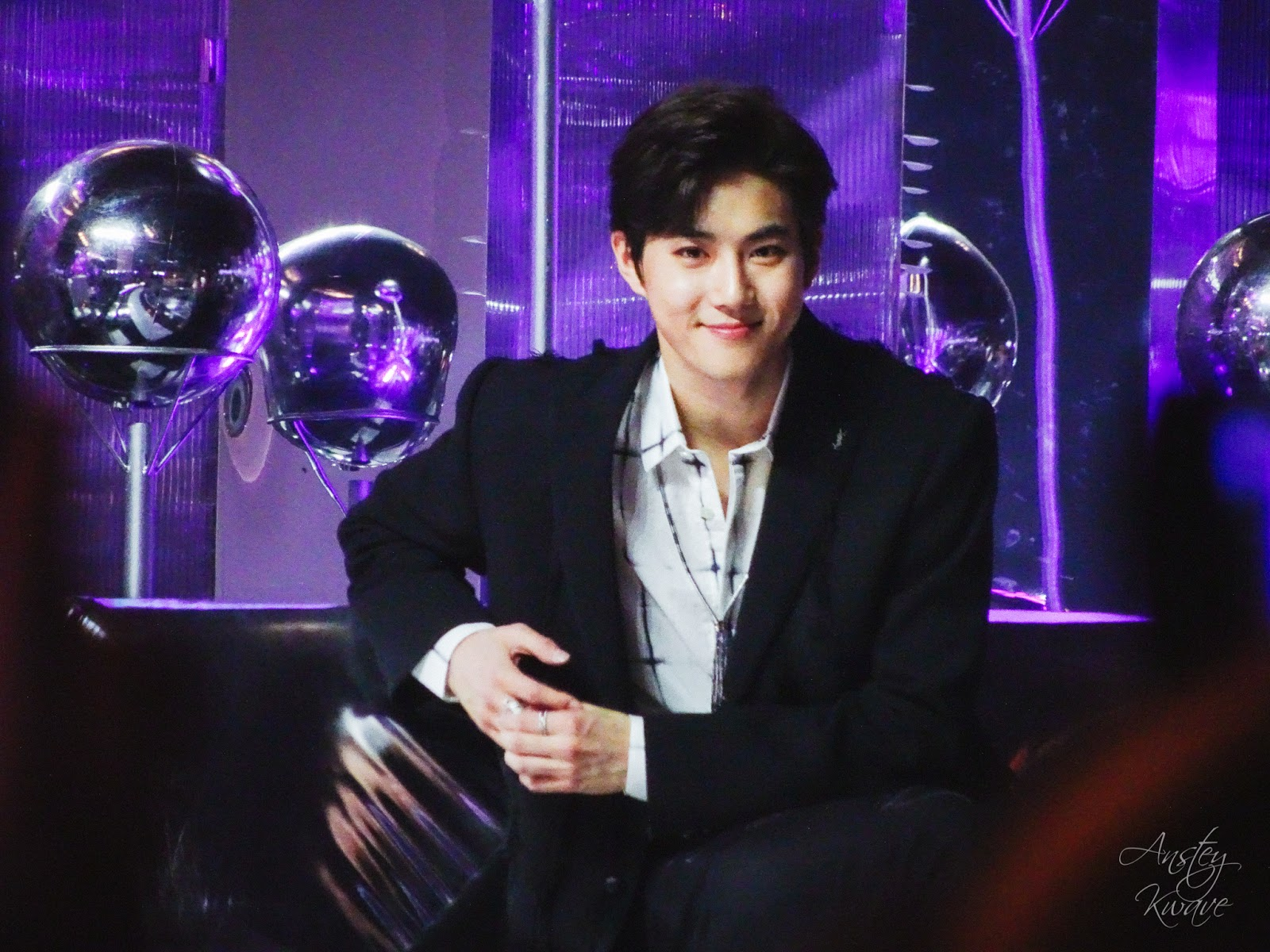 Suho, member of famous Korean k-pop boy band at Melon Music Awards (MMA) 2017 in Seoul, South Korea