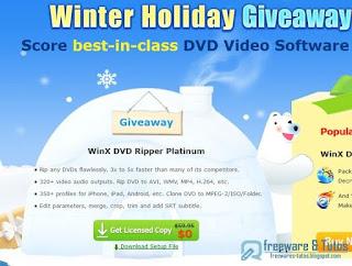 Giveaway :  WinX DVD Ripper Platinum gratuit pour l'hiver !
