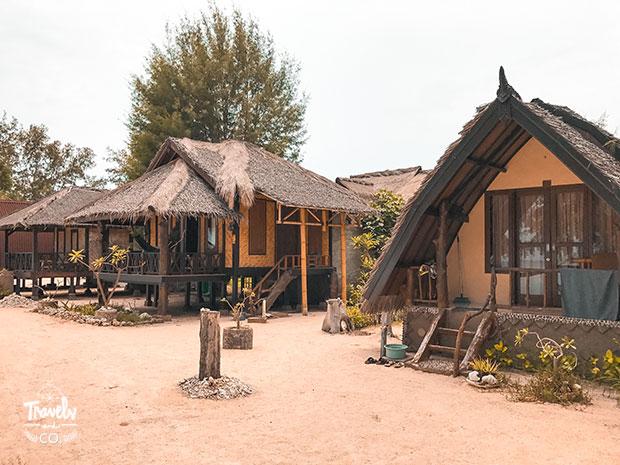 Dónde alojarse en Gili Meno yaya bungalows