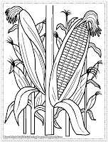 cornfield printable kids coloring pages