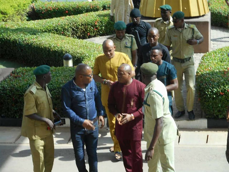 Biafra: Nnamdi Kanu arrives court in handcuffs