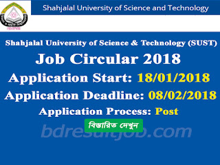 SUST-Shahjalal University of Science & Technology job circular 2018
