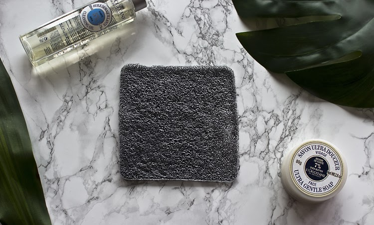 Bamboo Charcoal Angel Face Wash Cloth by The Konjac Sponge Company Review // Almost Chic