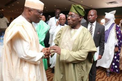 Atiku with Obasanjo