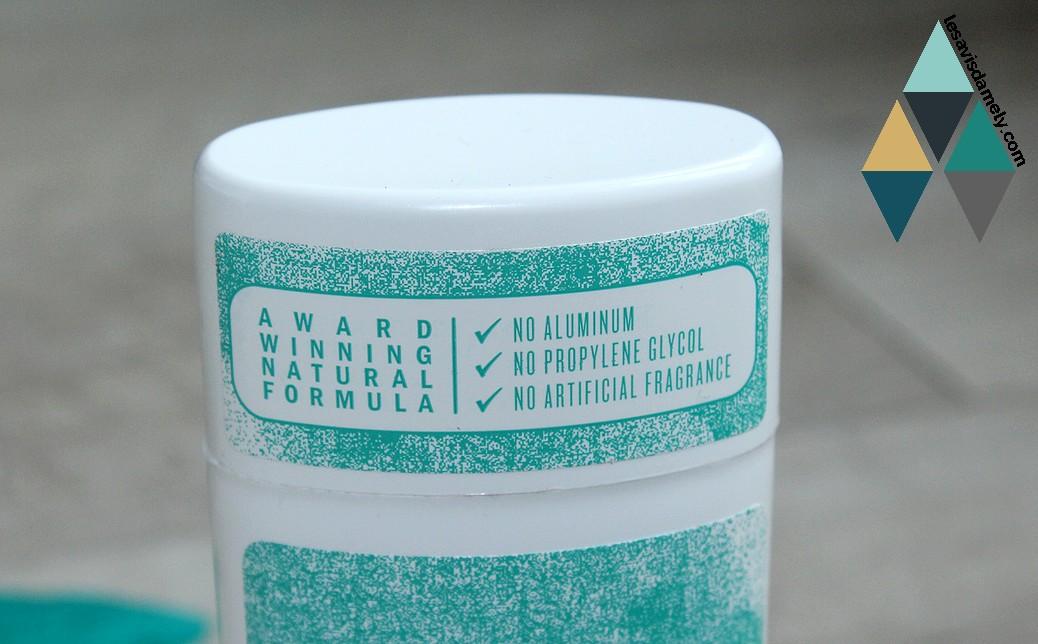 déodorant composé d'ingrédients naturels