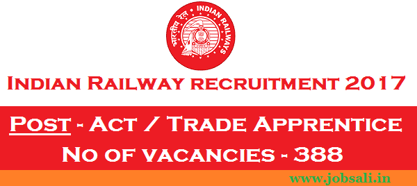 Indian Railway jobs, Indian Railway vacancy, North western railway apprentice jobs