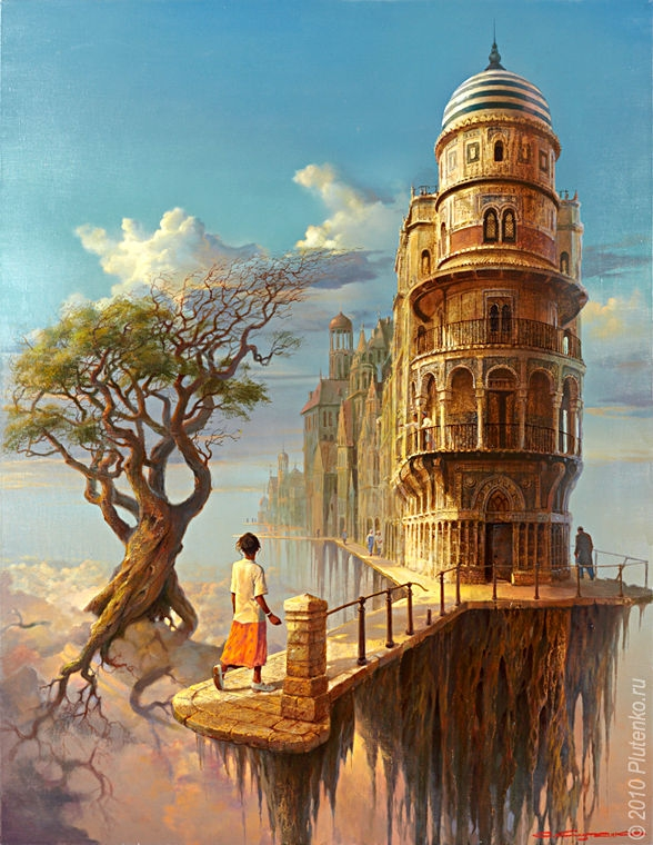 01-The-Tree-the-Cloud-Stanislav-Plutenko-Surrealism-and-Futurism-in-Oil-Paintings-www-designstack-co