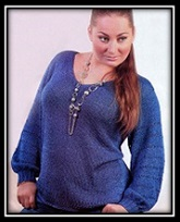Legkii jenskii pulover svyazannii spicami so shemoi i opisaniem