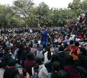India student protest in Delhi