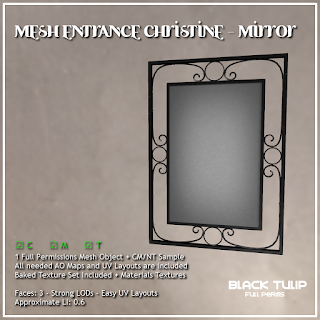 Mesh - Christine - Entrance Mirror