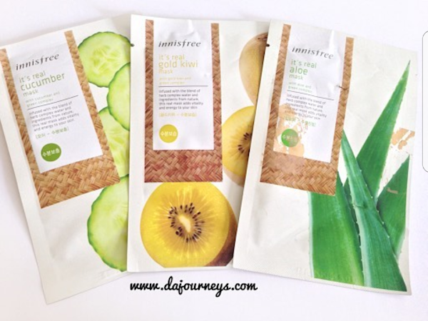 [Review] Innisfree It's Real Mask: Aloe, Cucumber, Kiwi