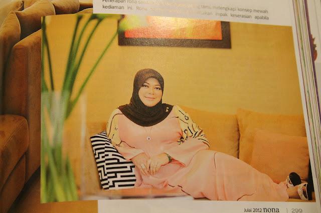 Azie Dalam Majalah NONA Julai 2012