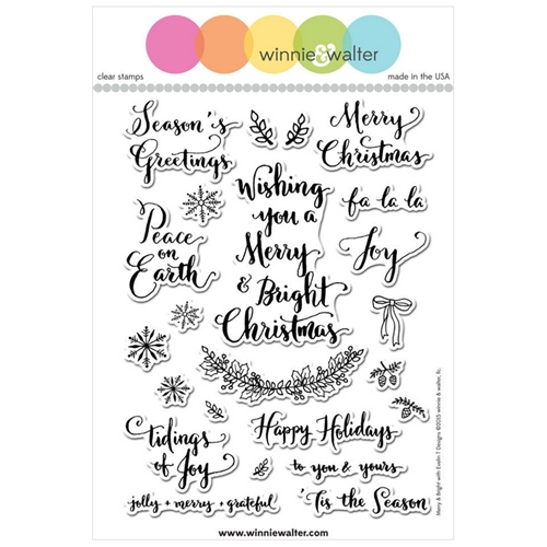 Winnie & Walter, Merry & Bright Stamp set