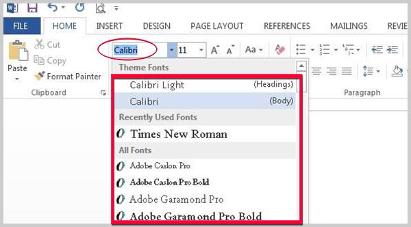 Pengaturan Jenis Huruf Dan Ukuran Huruf Pada Ms.Office Word 2013 - Mudahnya Office