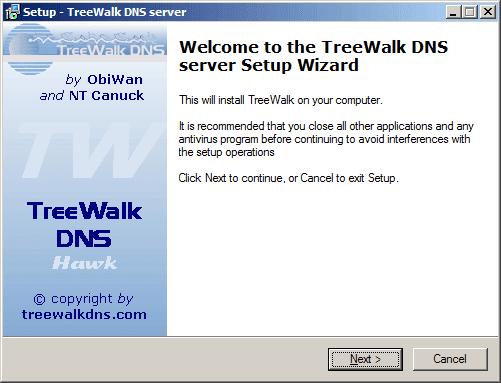 treewalk dns server