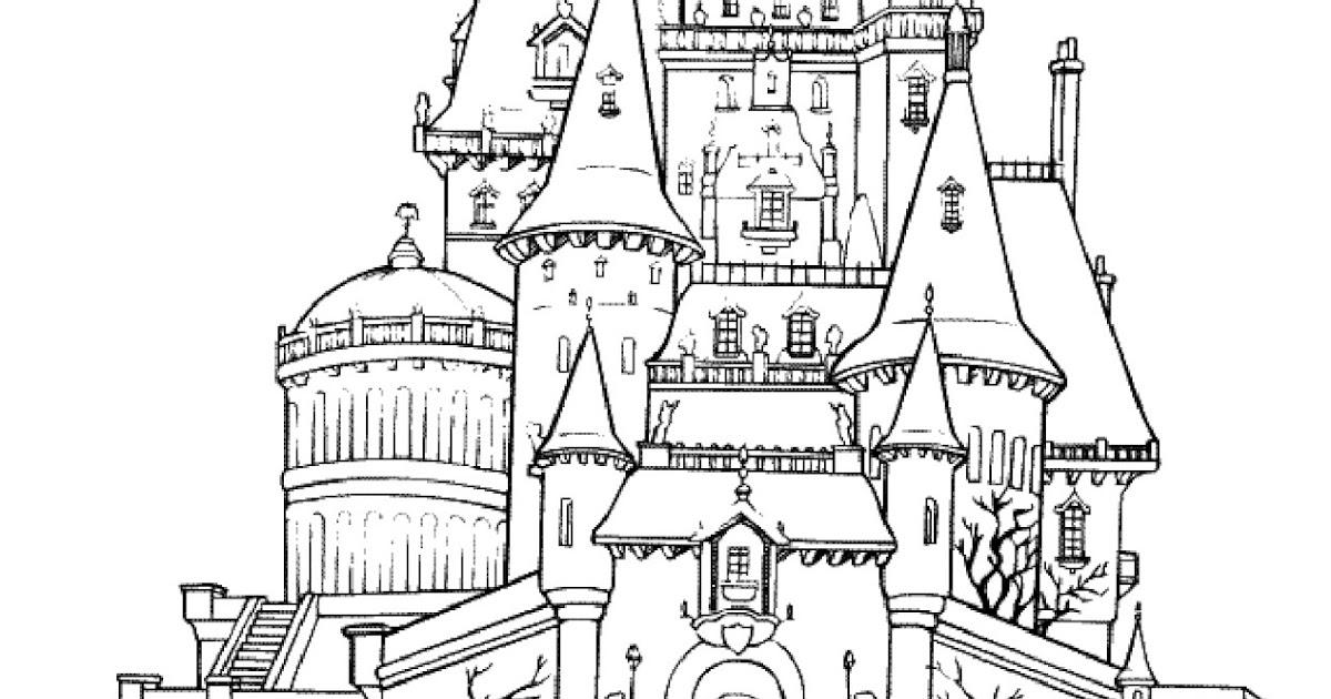 Mewarnai Istana Frozen Pewarna T