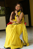 Cute Actress Ashwini in Yellow Saree Exclusive  008.JPG