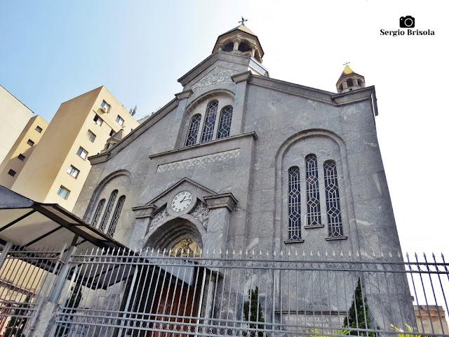Vista da fachada da Igreja Apostólica Armênia São Jorge - Bom Retiro - São Paulo