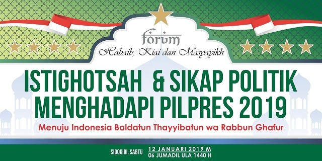 Blak-blakan! Ini Hujjah Habaib dan Masyayikh Dukung Prabowo-Sandi dari Sidogiri