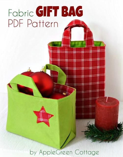 DIY Christmas gift bag pattern for BEGINNERS