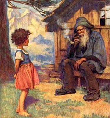 Heidi und Alpöhi, illustriert von Jessie Willcox Smith