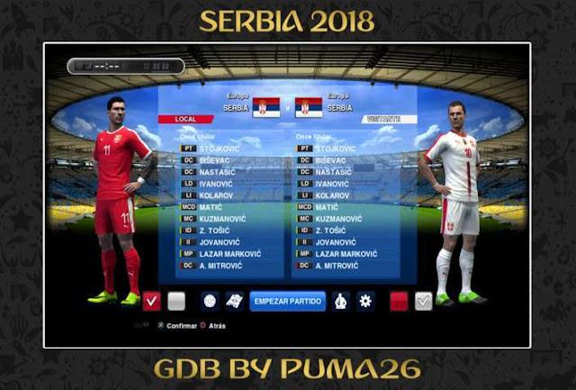 Serbia 2018 Kits Update PES 2013