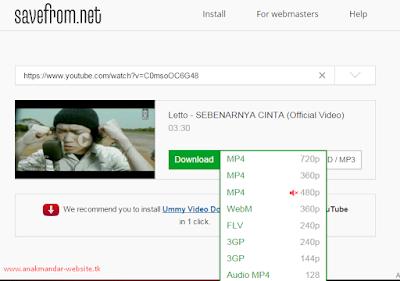 Gambar download video