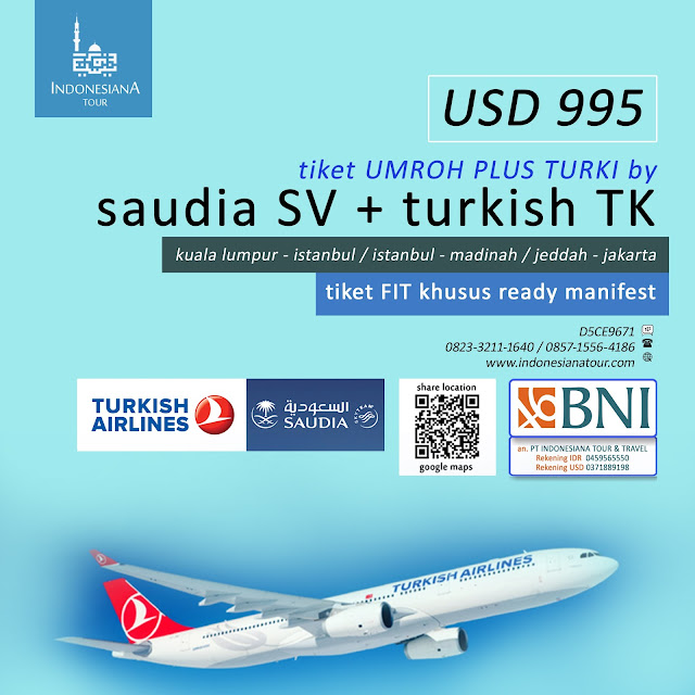 Tiket Group Umroh FIT / Block Seat / Booking Seat
