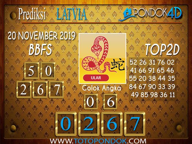 Prediksi Togel LATVIA POOLS PONDOK4D 20 NOVEMBER  2019