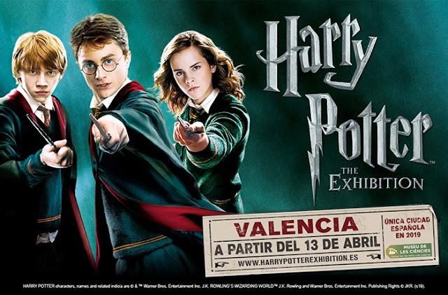 Cartel promocional exposición Harry Potter