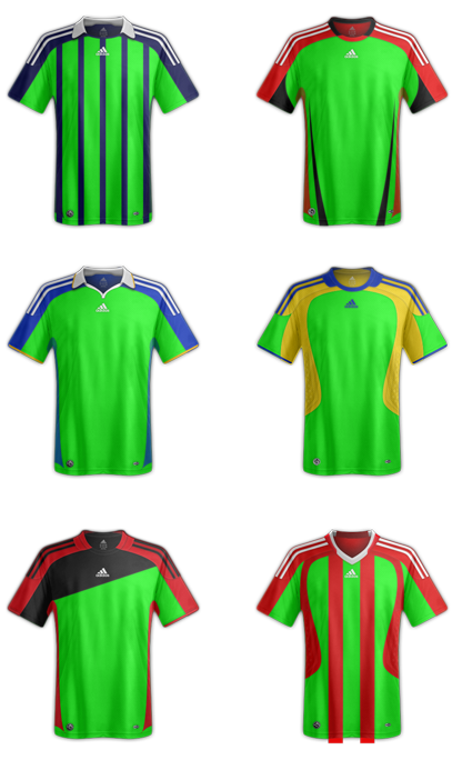 Download template kaos bola Adidas file Psd
