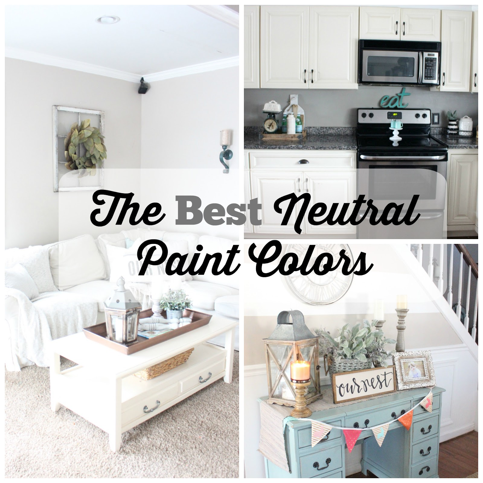 Best Neutral Paint Colors For Small Living Room Rooms With Dark Wood Furniture The Glam Farmhouse You Might Also Like