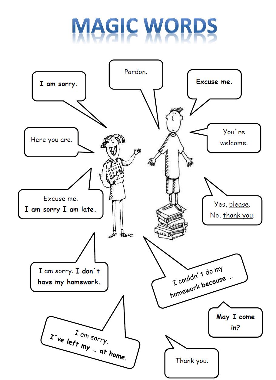 Your English Teacher: Classroom language: Magic words