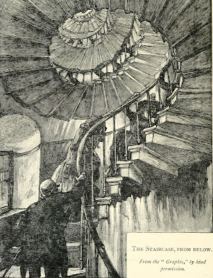 The Monument staircase from below from History of the Monument by C Welch (1893)