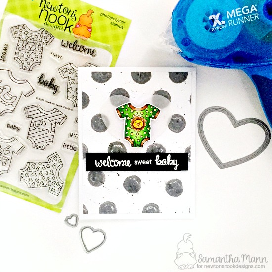 Newton's Nook Designs & Xyron Inspiration Week - Day 3 with Samantha | Loveable Laundry Stamp set by Newton's Nook Designs #newtonsnook #xyroninc