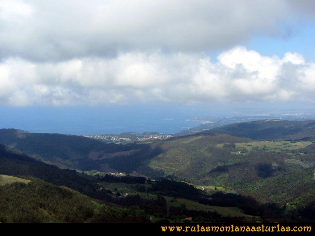 Ruta Llan de Cubel y Cueto: Vista de la zona central de Asturias