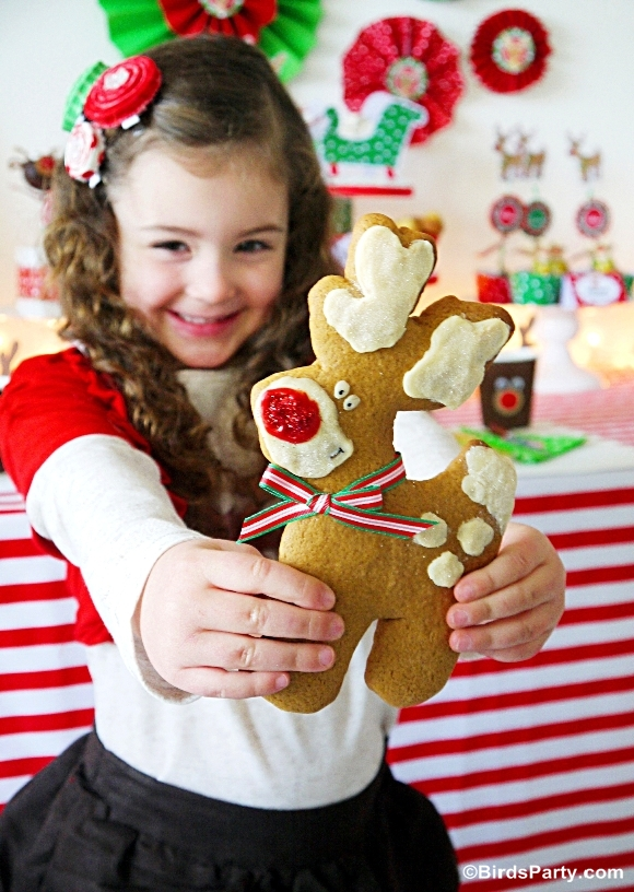 Rudolph Gingerbread Cookies Recipe - BirdsParty.com