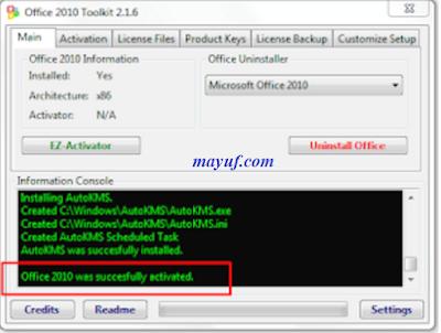 cara aktivasi microsoft office 2010 Dengan mudah