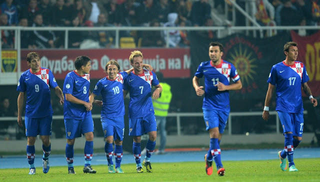 Croatia players during the world cup qualifier