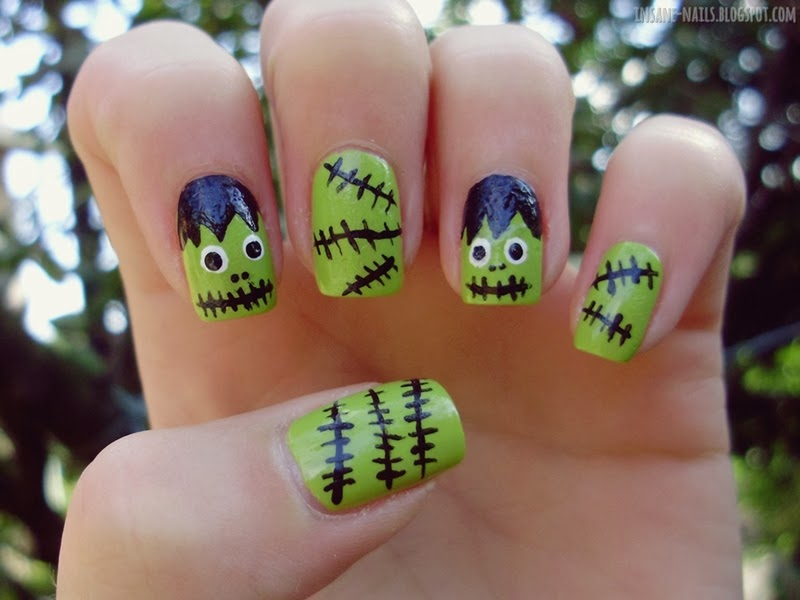 Halloween nail art challenge 2013 - inspired by horror ...