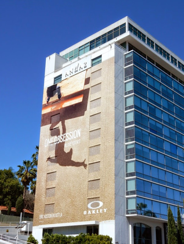 Giant Oakley skateboarder billboard