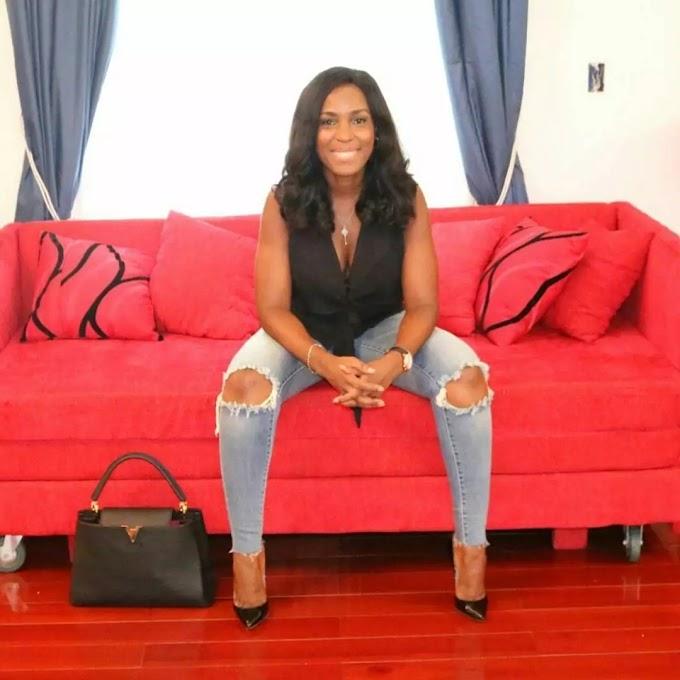 Linda Ikeji Finally Replies Kemi Olunloyo, Shows Off Her Naked Baby Bump