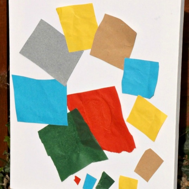 Henri Matisse inspired the snail collage - Exploring famous artists for kids
