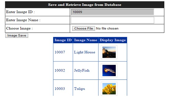 asp.net save and retrieve image from database and display in gridview